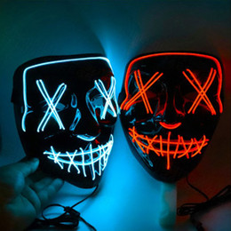 glowing led costume Australia - Halloween Mask LED Light Up Party Masks The Purge Election Year Great Funny Masks Festival Cosplay Costume Supplies Glow In Dark grimace