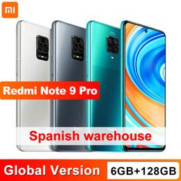 Vente en gros Version globale Xiaomi Redmi Note 9 Pro 128 Go 6 Go NFC Smartphone Smartphone Snapdragon 720g Octa Core 64MP Quad Caméra 647 pouces Écran 5020mAh