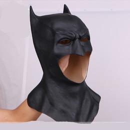 Dress Up Face Australia - Top Grade!!! Cool Movie Batman Masks Adult Halloween Party Cosplay Mask Full Face Latex Caretas Movie Bruce Wayne Cosplay Toy Props Dress up