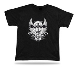 angels tshirt Australia - Tshirt Tee Shirt Birthday Gift Idea Fallen Angel Helmet Wings Axe Armor Holy summer Hot Sale Men T-Shirt Top New Tee Print
