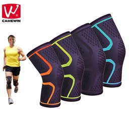 14f0675ff9 CAMEWIN 1 PCS Knee Pads for Basketball Badminton Running Hiking et all High  Elasticity Breathable Knee Protector Support #18352