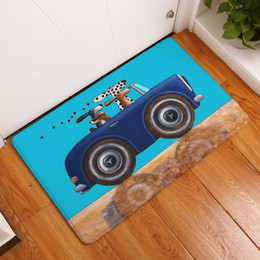 animal floor mats Australia - Cartoon Style Dog Print Carpets Anti-slip Floor Mat Outdoor Rugs Animal Front Door Mats