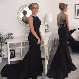 Wholesale New Women Fashion Solid Beads Sleeveless Formal Gowns Party Long Dress Fashion Clothing Shoes Accessories evening