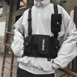 Hunting pack frames online shopping - Unisex Streetwear Daily Harness Pouch Chest Bag Button Closure Multifunctional Outdoor Fashion Multi Pockets Casual Hip Hop Belt