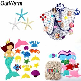Net Games Australia - OurWarm Under The Sea Party Decorations Mermaid Game Fishing Net Artificial Starfish Marine Decoration Birthday Party Supplies