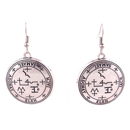 plates gift europe UK - HL0016 nordic vintage round shape earring fashion new design amulet silver and the gold color viking earring Europe American ladies jewelry