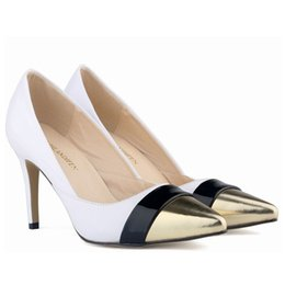 Working Women Corset NZ - Women Red Bottom High Heels Pointed Toe Patent Pu Leather Heels Corset Style Work Pumps Court Shoes US 4-11 D3