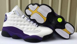 Pvc waterProof boxes online shopping - With Box Lakers Rivals Cap and Gown Basketball Shoes s Atmosphere Grey Chicago bred XIII Mens Sports Sneaker Athletics free shippment