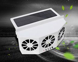 Estate veicolo Auto solare Sun Car Powered ventilatore Tre lama anteriore / posteriore della finestra Air Vent Demister Ventilation System in Offerta