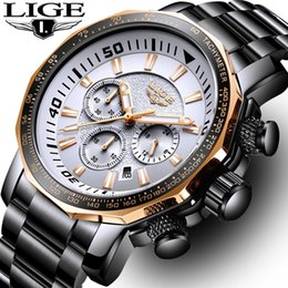 Dive Sport Watches Luxury Australia - Relojes Hombre 2018new Lige Watches Men Luxury Brand Watch Quartz Sport Military Men Full Steel Wristwatch Dive 30m Casual Watch Y19052103