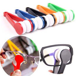 eyeglass cleaner tools Canada - New Hot Sale Portable Multi-Function Mini Sun Glasses Eyeglass Microfiber Spectacles Cleaner Brush Cleaning Wiping Tools