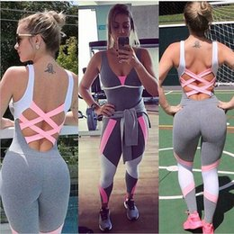 $enCountryForm.capitalKeyWord NZ - Women Fitness Yoga Legging Jumpsuit Ladies Gym Pants Playsuit Clothes Exercise Sport Top Running Leggings Sportswear
