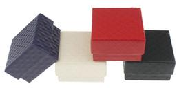 Wholesale Boxes Packaging Australia - Stripe Jewelry Cases Display Cardboard Necklace Earrings Ring Bracelet Box Sets Packaging jewelry Gift Box with Sponge