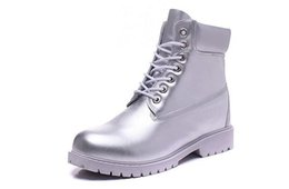 Womens Cowboy Ankle Boots Australia - BEST QUALITY TIMBER1AND BOOTS 10061 ALL SILVER MENS WOMENS COW LEATHER WATERPROOF WORK BOOTS COWBOY 6INCH FOOTWEAR WITH FREE QUICK EXPRESS