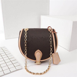 Latest Leather Bags Australia - Latest Luxury Saddle Girl Fashion vintage leather alphabet pattern womans designer bag Size 18cmx19cmx8cm High quality canvas mini handbag