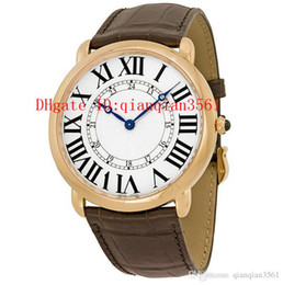 Browning Gold Australia - High Quality Brand Men's W6801004 quartz 18k rose gold case with brown leather strap watch