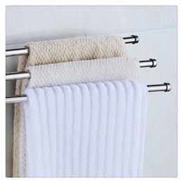 Storage For Towels Australia - 3-Arm Wall-Mounted Stainless Steel Folding Arm 360 Degree Rotating Bars Bathroom Towel Racks Hanger Holder Storage Organizer for Bathroom Pr