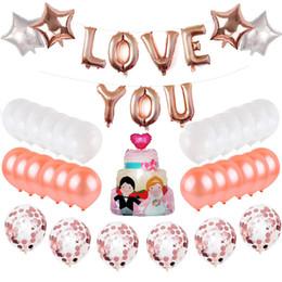 $enCountryForm.capitalKeyWord Australia - Love U Foil Balloons Set 2019 Valentine Day Wedding Bridal Party Supplies Wedding Cake Star Shape Balloons Mylar Balloon Decorations