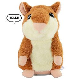 $enCountryForm.capitalKeyWord Australia - Cute Mimicry Pet Talking Hamster Repeats What You Say Plush Animal Toy Electronic Hamster Mouse for Boy and Girl Gift