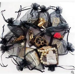 Gift Wrapping Organza Australia - Black color Organza Bags Wedding Gift wrap pouch Drawstring Bag candy bags Jewelry Pouches package bags heart 475