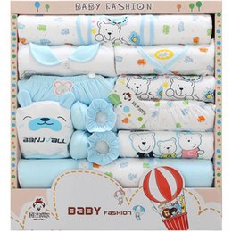 Cotton Newborn Baby Clothes Sets 5 Style Cute Baby Clothes Best Newborn Baby Gift Set 18020302 Drop Shipping on Sale