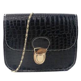 crocodile grain handbags 2019 - Hot Crocodile grain fashion trend pattern square shoulder bag across wild ladies Crocodile grain handbag crossbody#20 ch