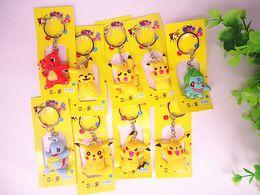 $enCountryForm.capitalKeyWord Australia - Keychain Pikachu Action figure funny novelty personality cute cartoon fashion pendant jewelry accessories metal keychain gift V084
