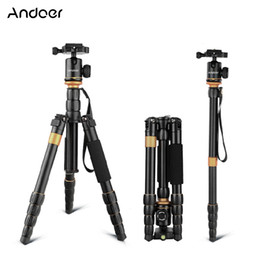 Tripod for camcorders online shopping - Andoer Foldable Detachable Tripod Adjustable Photography Digital Camera Camcorder Tripod for Canon Nikon Sony DSLR