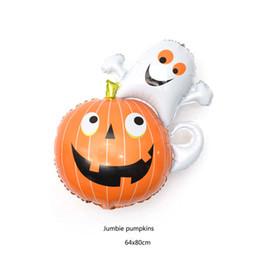 $enCountryForm.capitalKeyWord Australia - Halloween Balloon Aluminium Film Pumpkin Head Bats Ghosts Kids Toys Balloons 13 Designs Cartoon Animal Festival Decoration Props 08