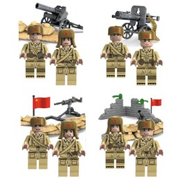 building figures Canada - 8pcs WW2 The Second World War Korean War Military Figure Building Block Bricks Toy For Boy