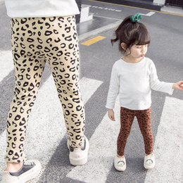 $enCountryForm.capitalKeyWord NZ - New leopard print girls leggings Kids Leggings cotton kids designer clothes girls tights skinny pants girls trousers kids clothes A7225
