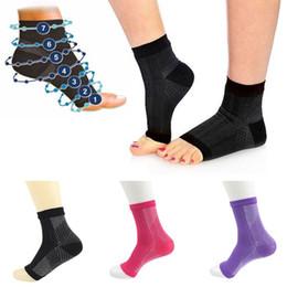 $enCountryForm.capitalKeyWord Australia - Women Men Anti Fatigue Open Toe Pilates Compression Short Sports Socks Yoga Gym Fitness Ankle Sleeve Arch Support Pain
