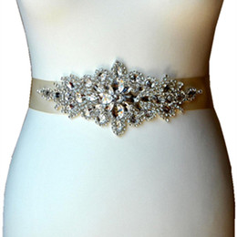 Evening Gowns Accessories Australia - Bridal Rhinestone Wedding Belt Dress Accessories Bride Bridesmaid Bridal Sashes Belts For Evening Party Prom Gown Dress