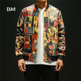 $enCountryForm.capitalKeyWord NZ - korean style floral bomber jacket fashion men streetwear clothes 5XL hip hop man jacket spring 2019 japanese coat punk clothing