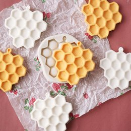 Christmas Baking Molds Australia - 5PCS DIY Honeycomb Cakes Molds Silicone Mold Fondant Cake Chocolate Soap Candy Biscuit Sugar Mold Baking Kitchen Accessories