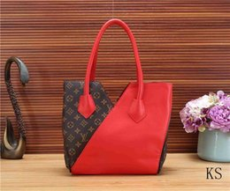 Product Brand Color Australia - luxury Brands L New Product V Women's bag Shoulder Bag Wallet PU handbag Hit color Ms fashion Hand bag