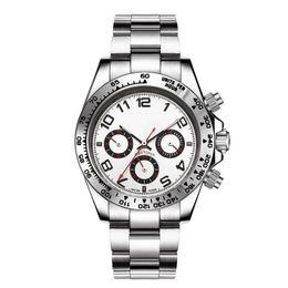 Опт Нержавеющая сталь автоматические механические мужские часы Бизнес досуг модные часы многоцветные оптом без груза