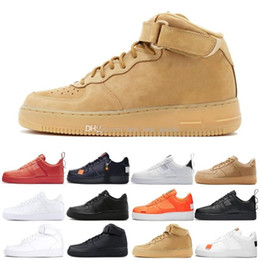 Golf cut online shopping - New Dunk utility Men Women Shoes Cheap Low Cut One Shoes All White Black s Classic AF High Knit Skateboard Sports Shoes