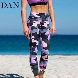 Camouflage Workout Leggings Australia - DANENJOY Digital Camouflage Print Yoga Pants Fitness Sport Women Workout Leggings Fitness Pants High Waist Gymming Leggins 2017