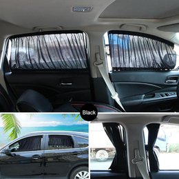side sun shade Australia - Universal Car Side Window Sun Shade Curtains Auto Windows Curtain Drape With Other Accessories For Car Styling Accessories