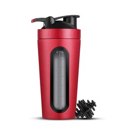 $enCountryForm.capitalKeyWord UK - 700ml Protein Shaker Stainless Steel Outdoor Gym Sports Fitness Training Drink Powder Milk Mixer My Water Bottle Q190430