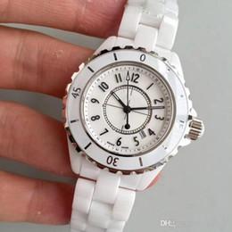 Toptan satış Yüksek Kalite Lüks Lady Beyaz Siyah Seramik Saatler Yüksek Kaliteli Kuvars Moda Zarif Kadın Kadın Kol saatı
