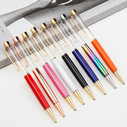 Plastic ballPoints Pens online shopping - DHL Blank Bling Bling in Slim Crystal Diamond Ballpoint Pens glitter Stylus Touch Pen DIY pens color