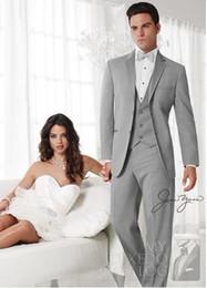 $enCountryForm.capitalKeyWord Australia - New Style Two Buttons Light Grey Groom Tuxedos Best Man Notch Lapel Groomsmen Men Wedding Suits Bridegroom (Jacket+Pants+Tie+Vest) H658
