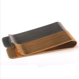 $enCountryForm.capitalKeyWord UK - Classic Cash Money Clip Credit Card Holder - Front Pocket Slim Minimalist Stainless Steel Wallet Metal Bifold Dollar Clamp Fashion Simple
