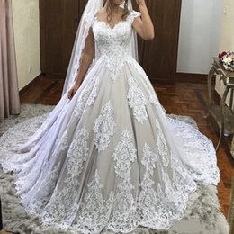 $enCountryForm.capitalKeyWord Australia - Elegant Lace Sheer Neck A-Line Wedding Dresses Cap Sleeves Maternity Pregnant Backless Beach Plus Size Custom Made Bridal Gowns