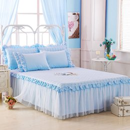 $enCountryForm.capitalKeyWord Australia - luxury cotton lace bed skirt princess bed cover sheets pillowcases in a variety of styles