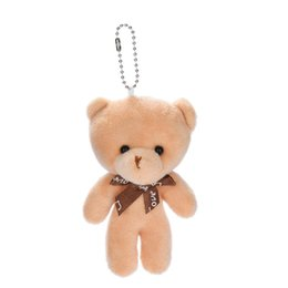 wedding stick figures NZ - Portable Cute Lovely Cartoon Bear Doll DIY Bowknot Pendant Stuffed Toys Valentine Day Gifts Wedding Home Decoration