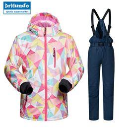 Waterproof Suit Kids Australia - Kids Ski Suit Children Brands Windproof Waterproof Warm Girls And Boy Snow Set Pants Winter Skiing And Snowboarding Jacket Child