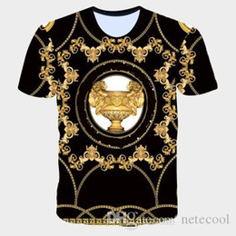Wholesale gold t online – design Designer Men s T Shirts Brand Apparel Europe and The United States The World s High quality Printing Is Very Perfect Head There Label